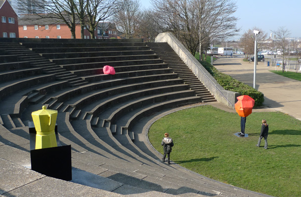 the future is aprocess, amphitheatre, spectators